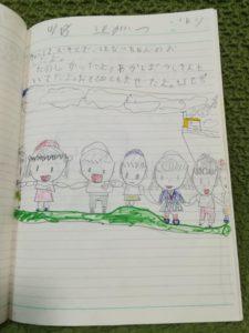 嘉成晴香の5歳の絵日記「幼稚園」