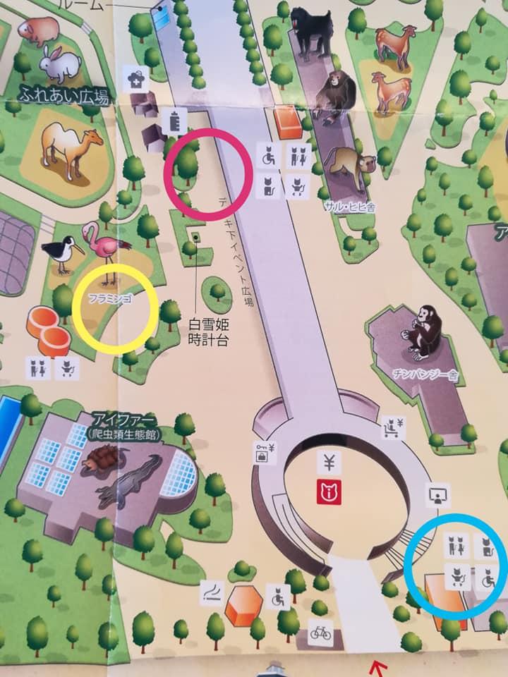 天王寺動物園の地図
