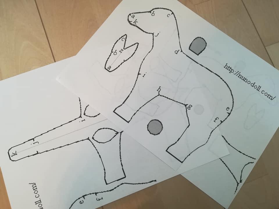 ルンルン手芸さんの馬のぬいぐるみ型紙