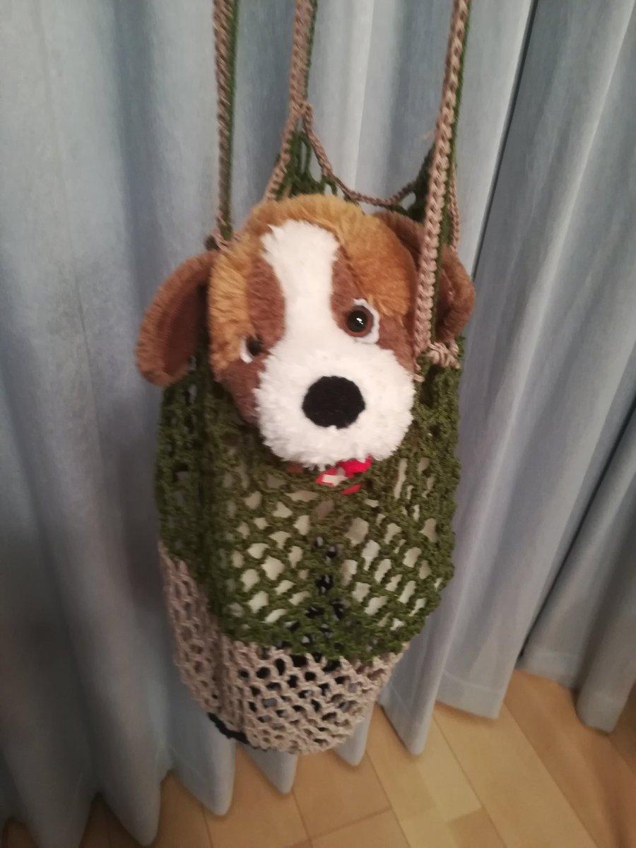 かぎ針編みのネットバッグ