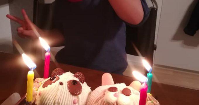 パンダとウサギのケーキ