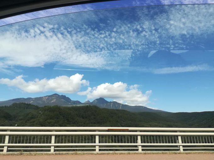 車窓から見た八ヶ岳