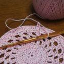 ピンクのレース編み