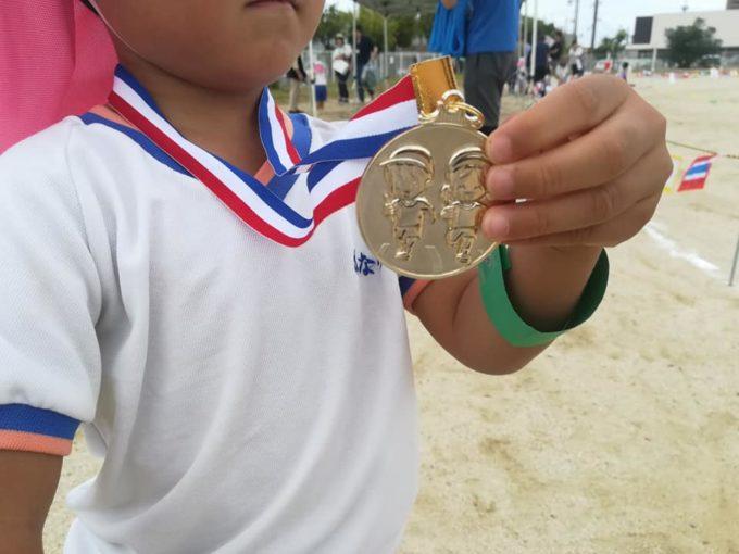 保育園の運動会のメダル