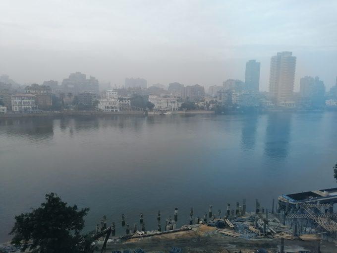 ナイル川のもや(霧?)