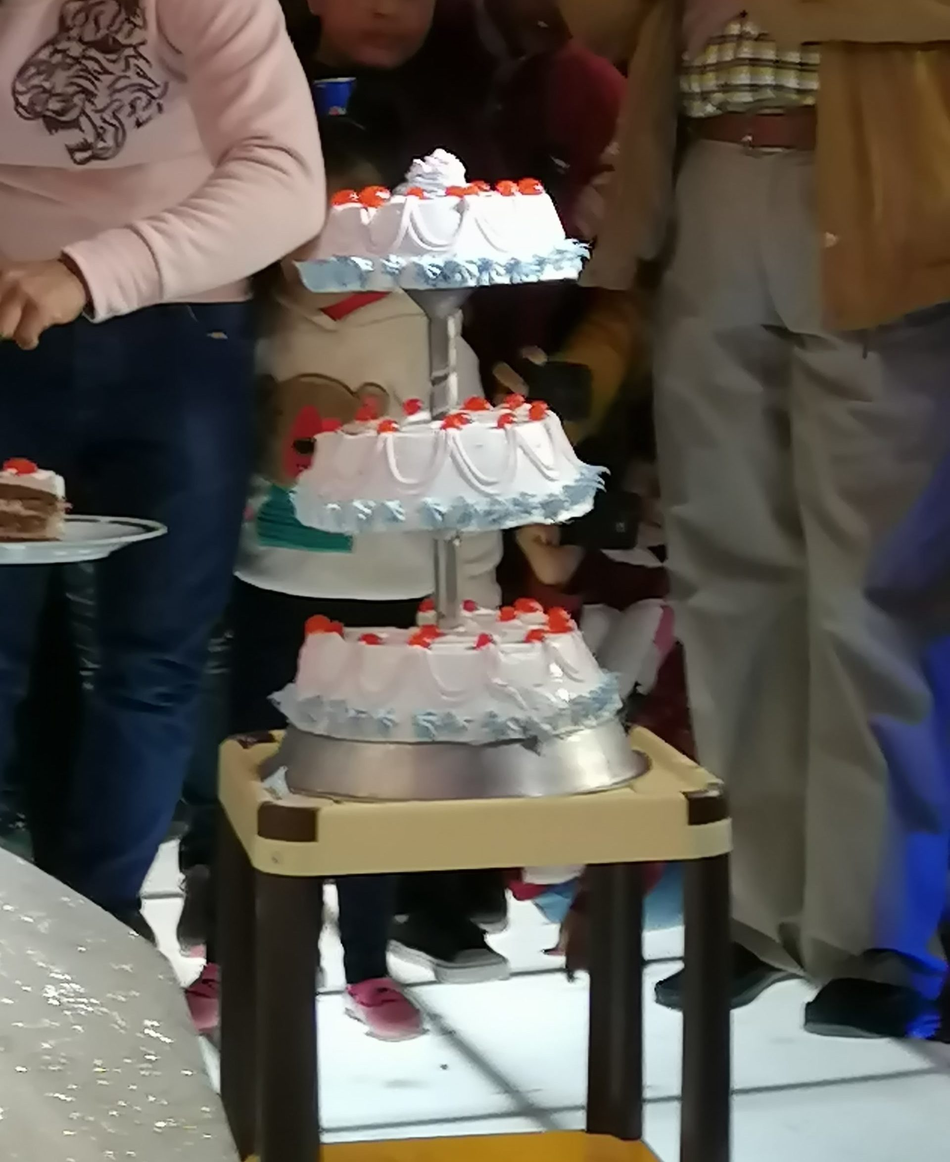 エジプトの結婚式のケーキ