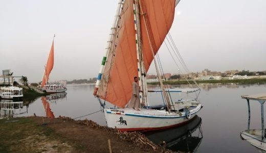 エジプトのルクソールでフェルーカ(帆船)に乗りました!