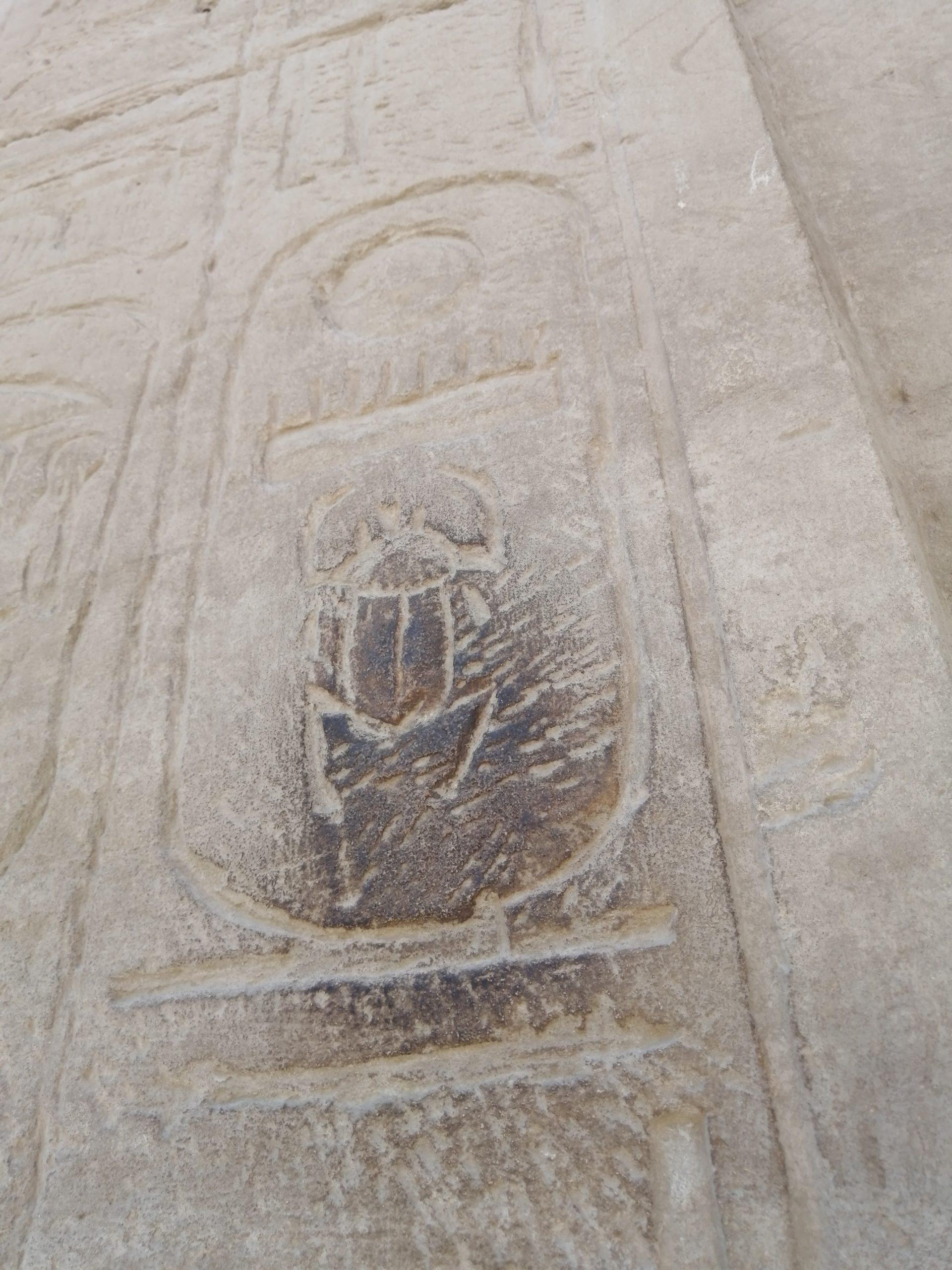 エジプトのカルナック神殿のスカラベ