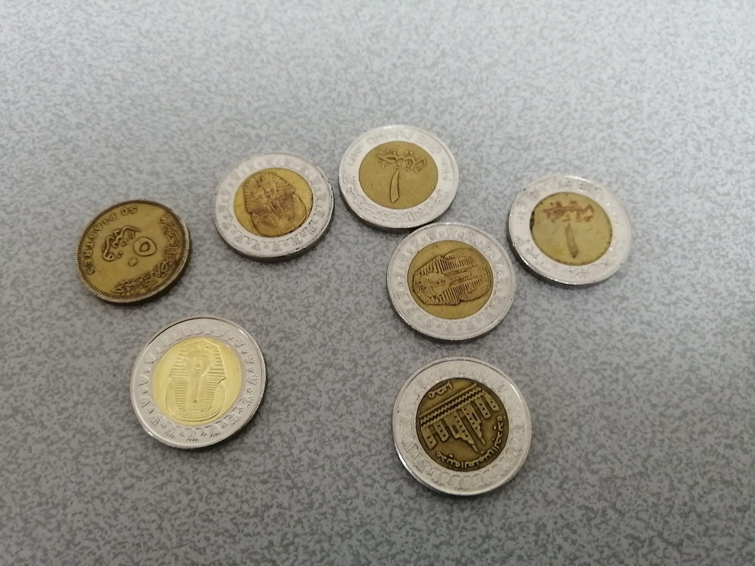 エジプトの硬貨