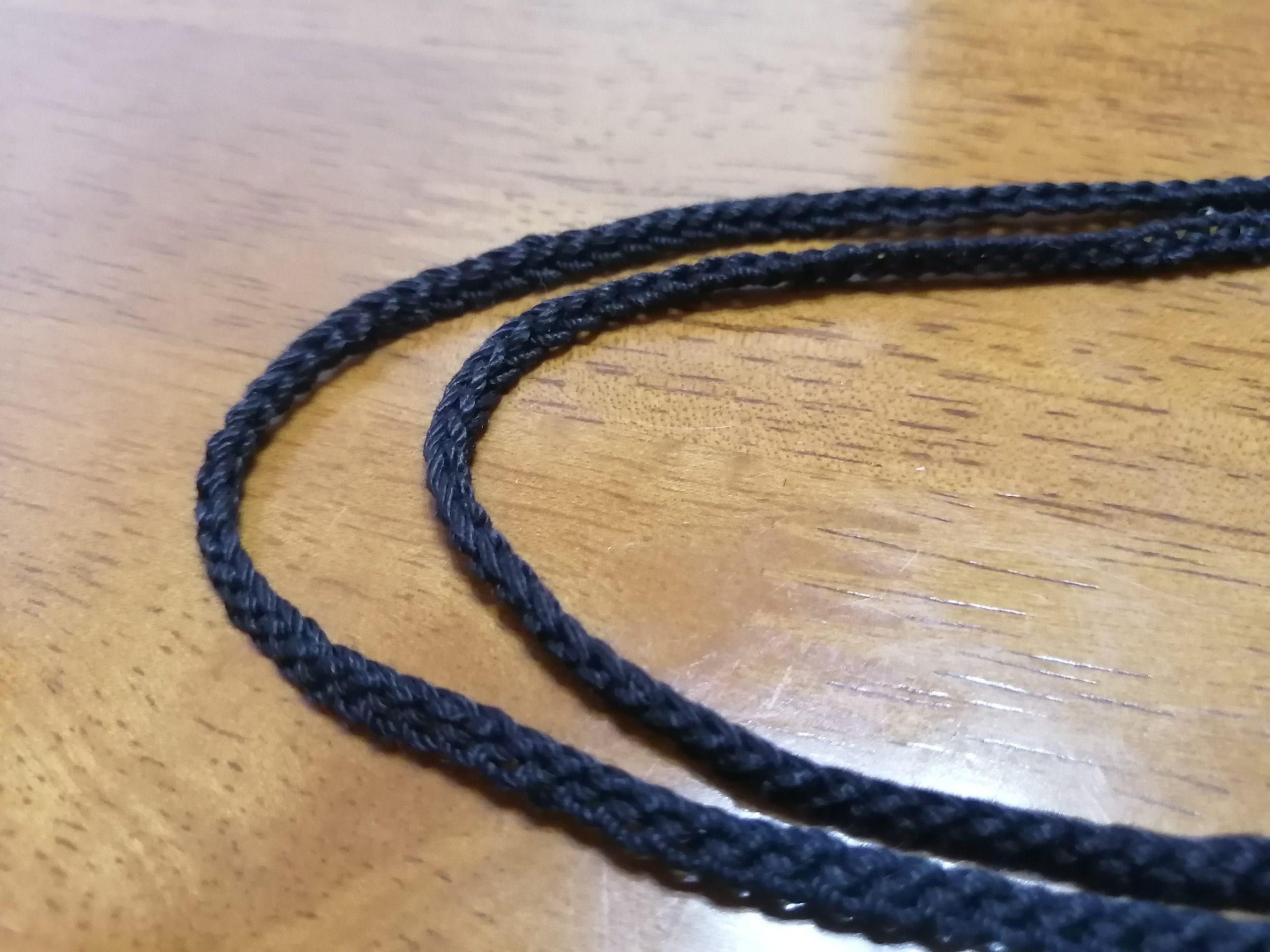 かぎ針編みで紐編み