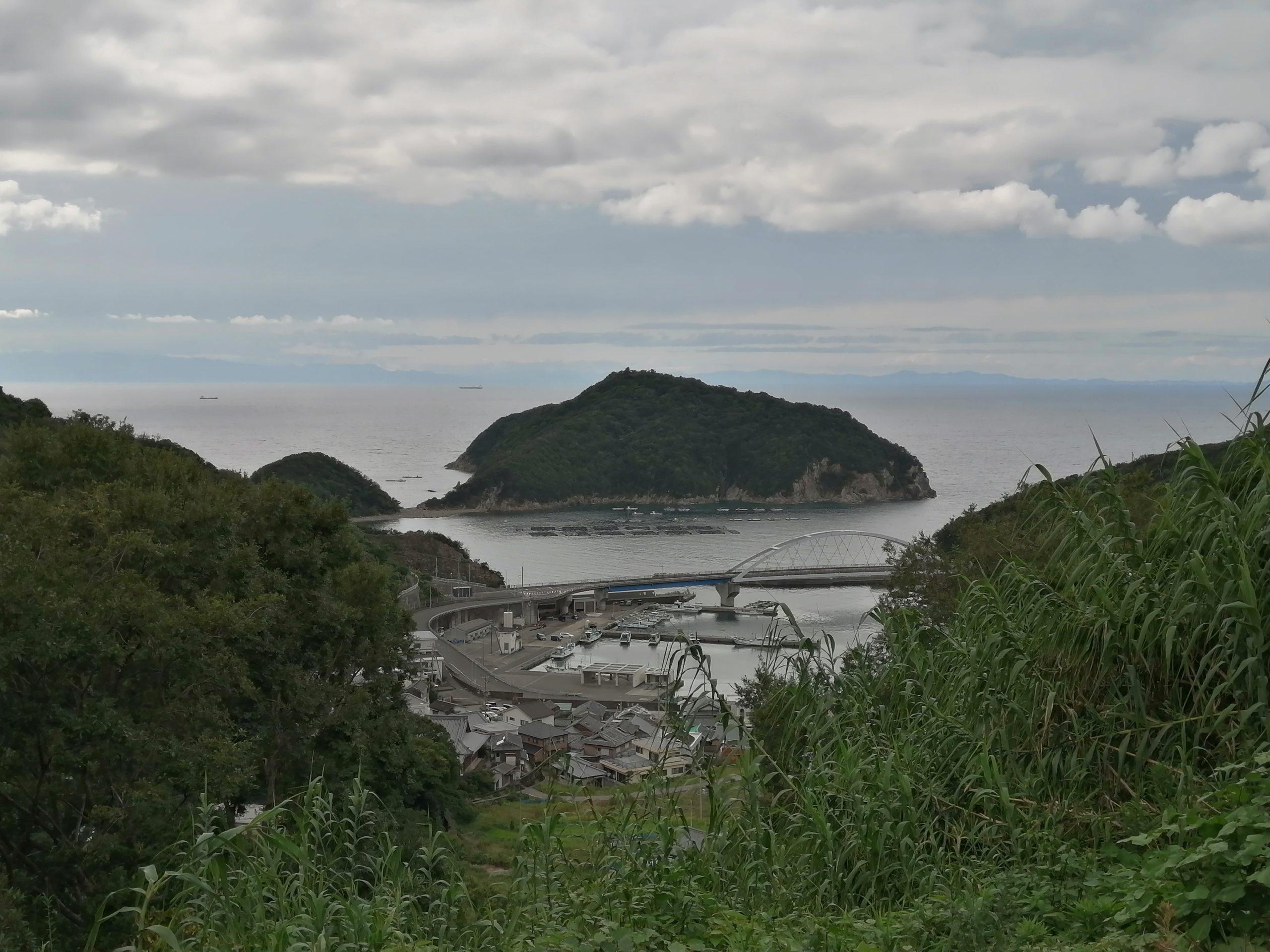 戸津井鍾乳洞からの景色