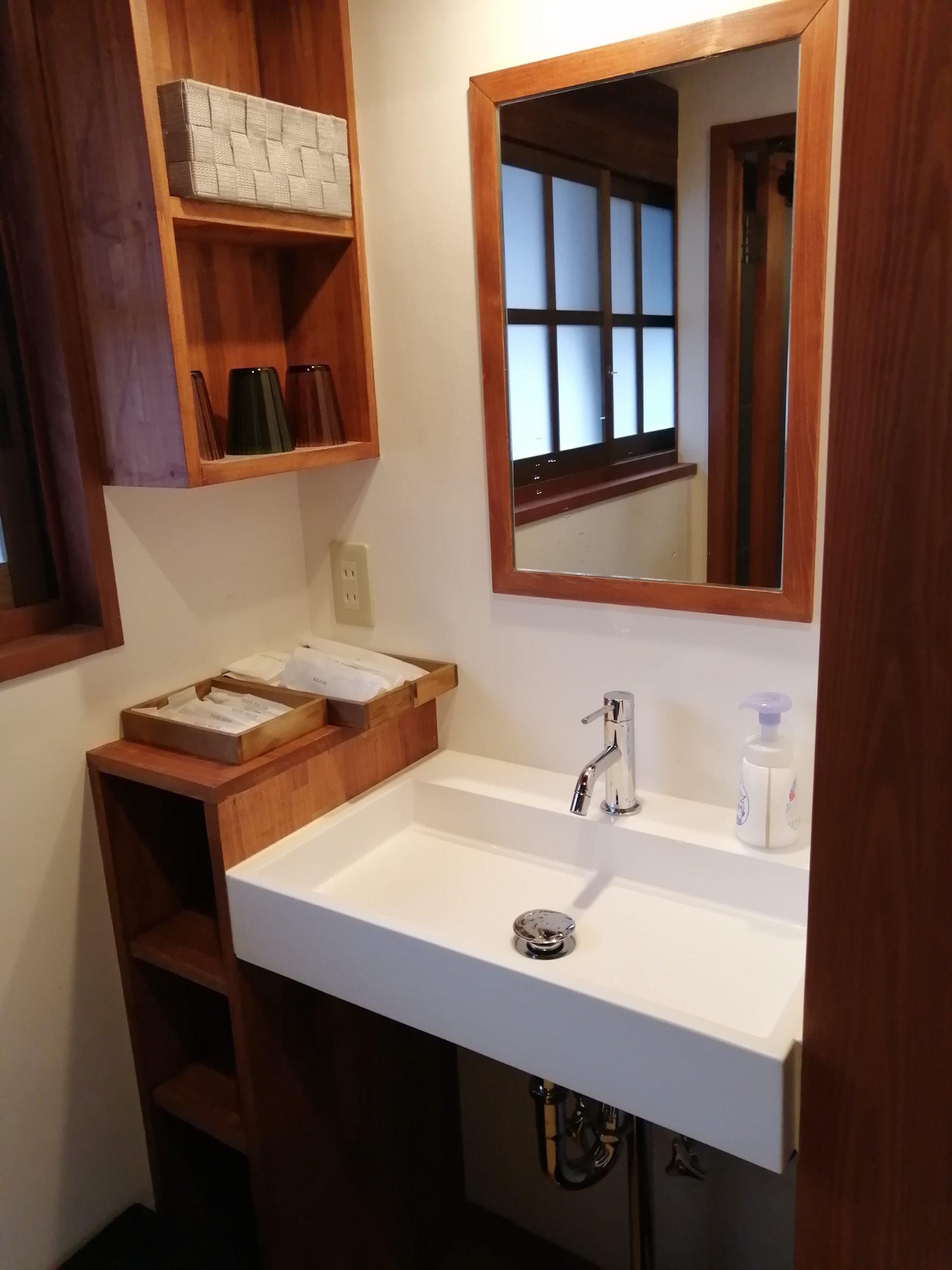 古民家の洗面所